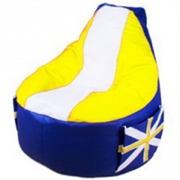 Кресло Мешок Comfort Britain Yellow (экокожа)